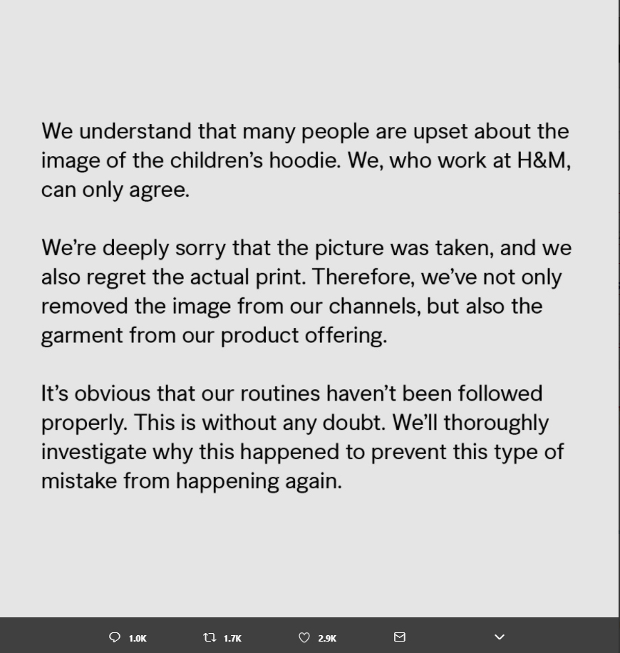 Image result for h and m apology