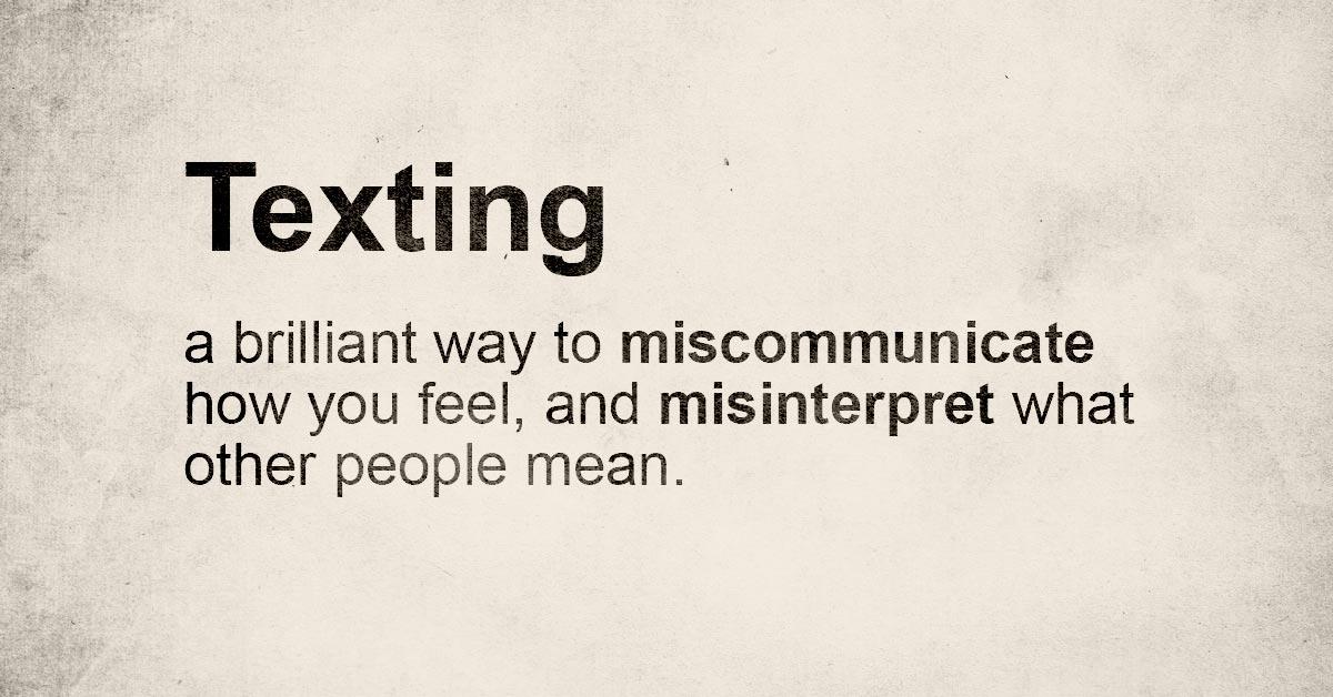 texting kills relationships
