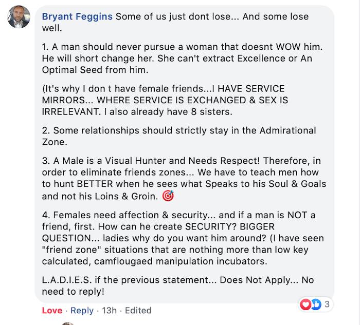 bryan feggins LOVE coach