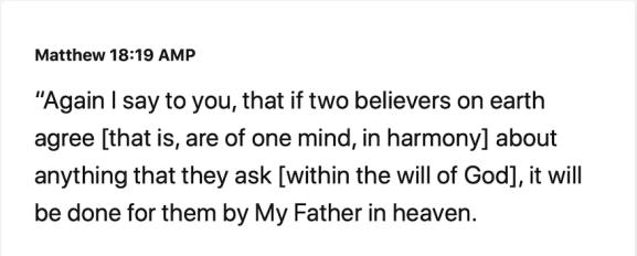 when two agree bible mathew