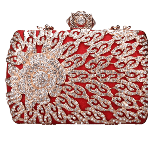 Red diamond bag
