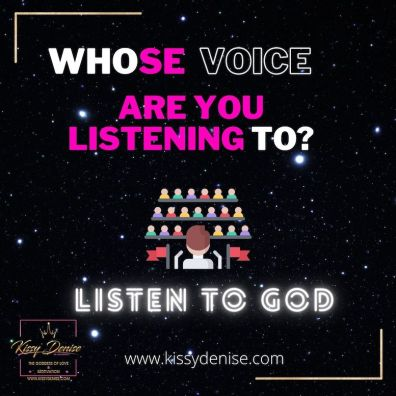 Are you listening to the voice of God?