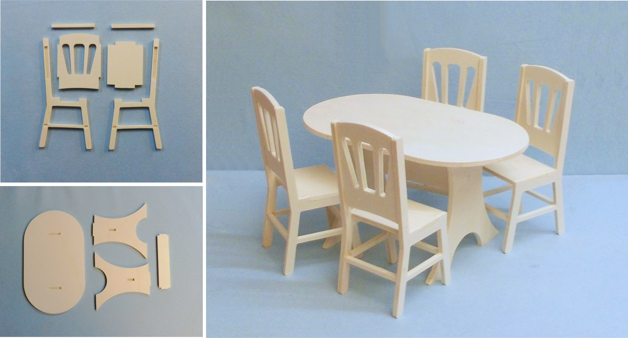 pack table ovale 4 chaises 1 6eme