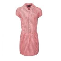 Summer Dress - Gingham design, Red/White (Check Collar ...