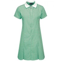Summer Dress  Gingham design, Green/White - Girls ...