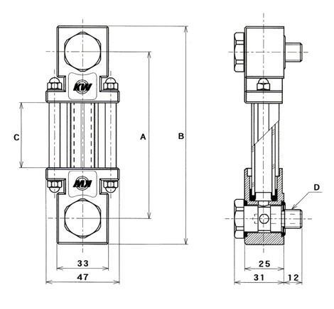 金属製標準型寸法表