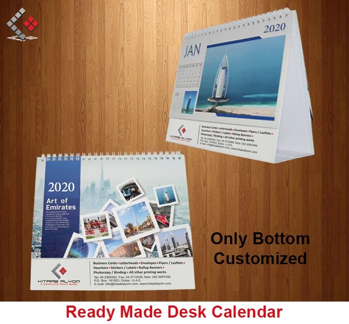 Calendar Printing in Dubai, Desk & Table Top Calendar Printing in Dubai