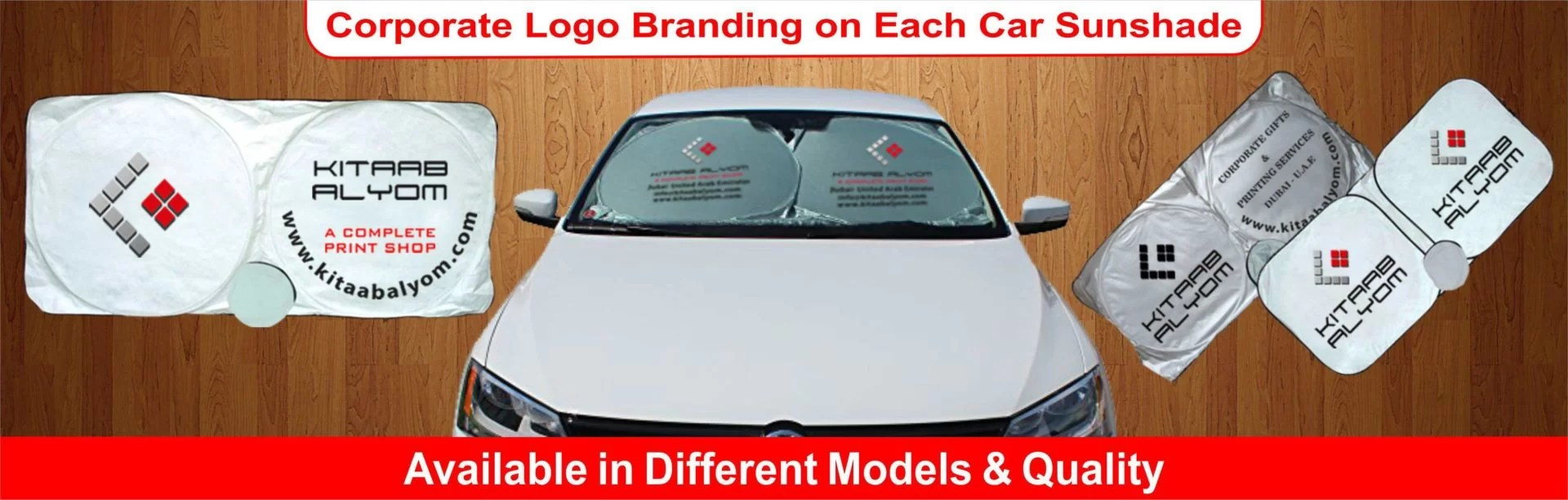 Car Sunshades Printing in Dubai, Car Sunshades, Print Car Sunshades in Dubai