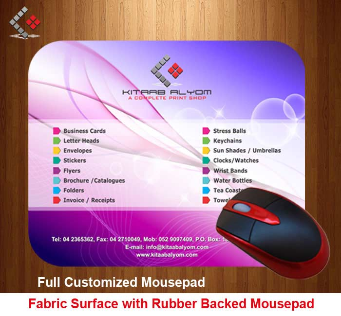 Mouse Pad Printing in Dubai, Personalized Mouse Pad, Mouse