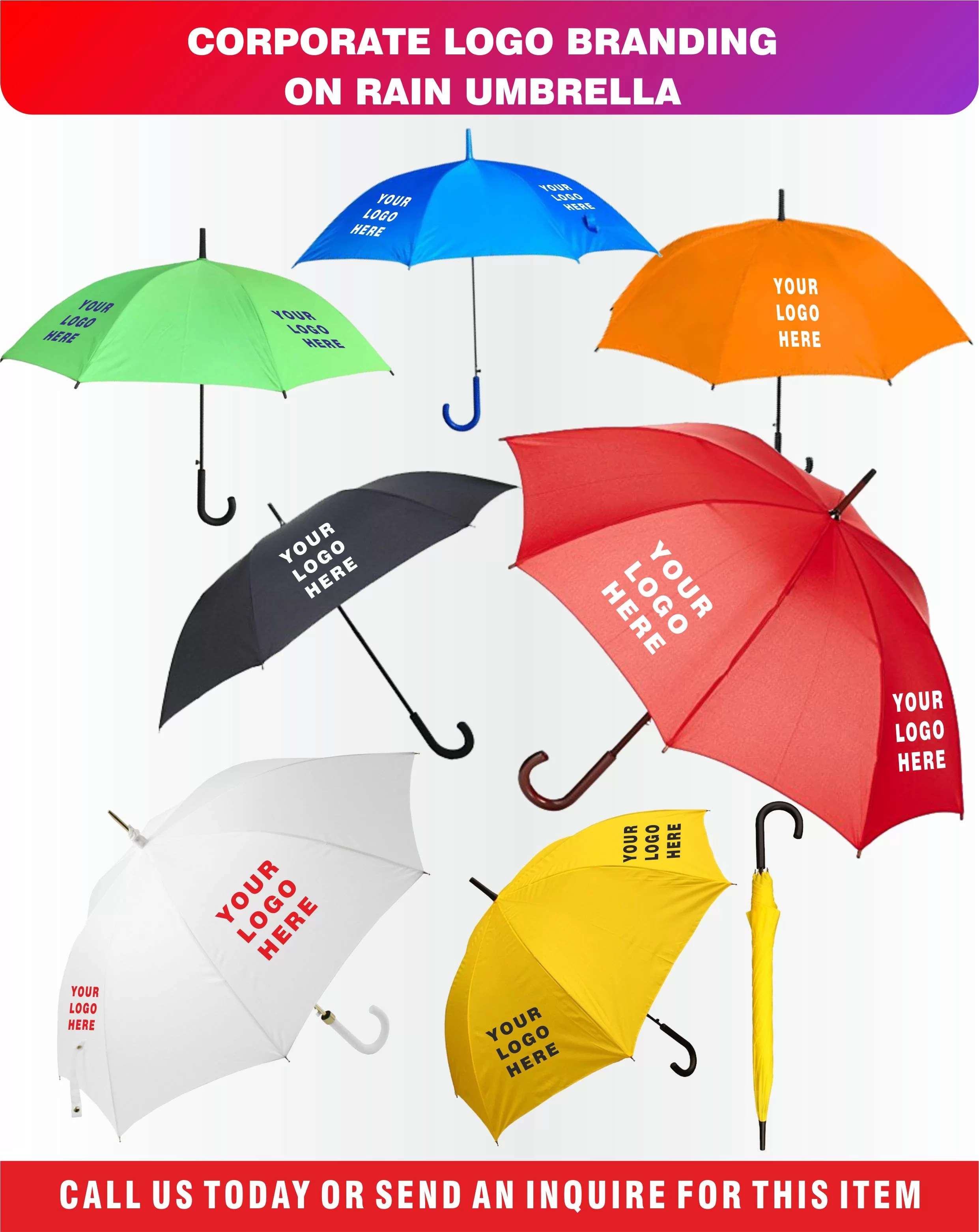 Umbrellas Printing in Dubai, Customized Umbrella in Dubai