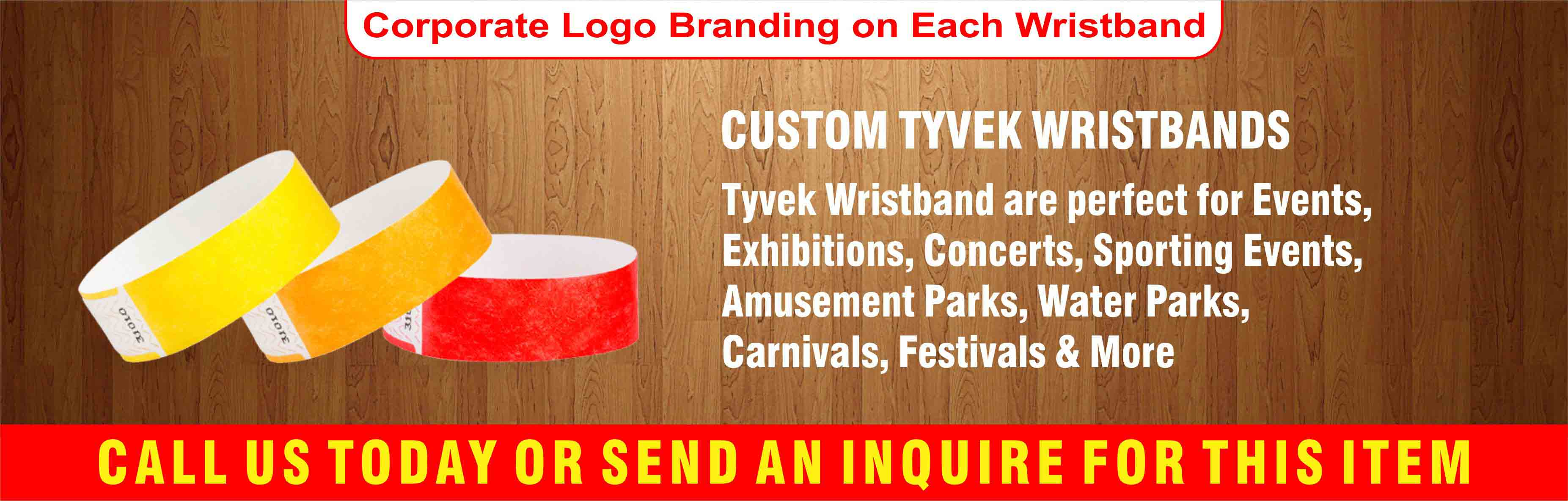 photograph regarding Printable Tyvek Wristbands named TYVEK WRISTBANDS - Kitaab Alyom