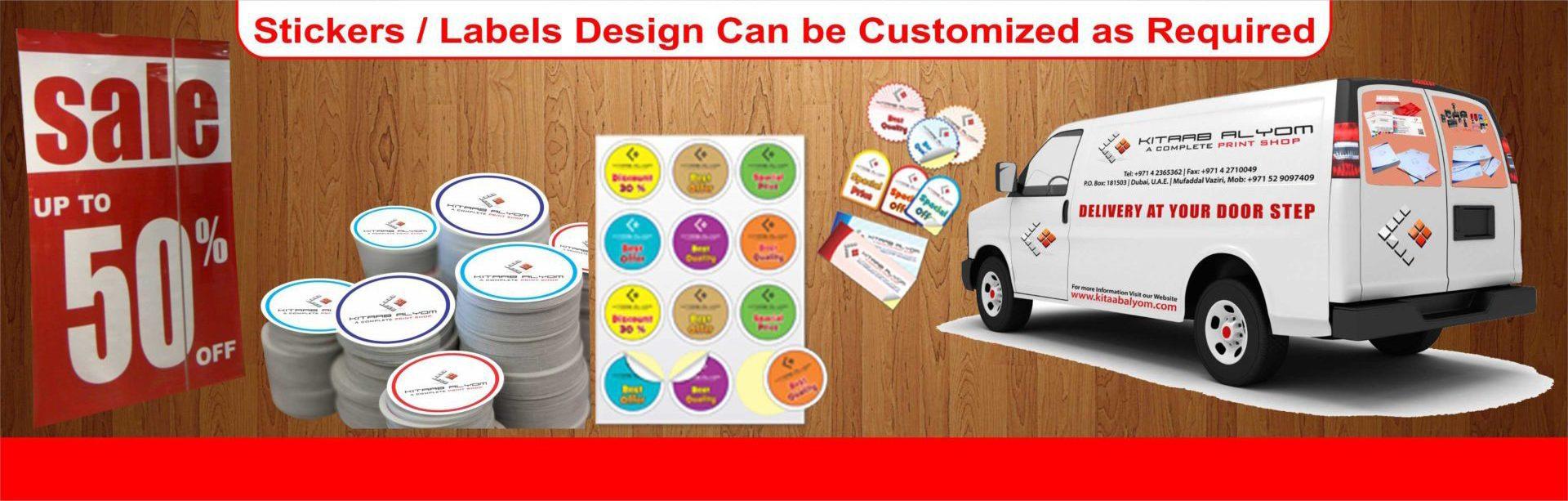 Stickers labels printing in dubai die cut labels printing in dubai