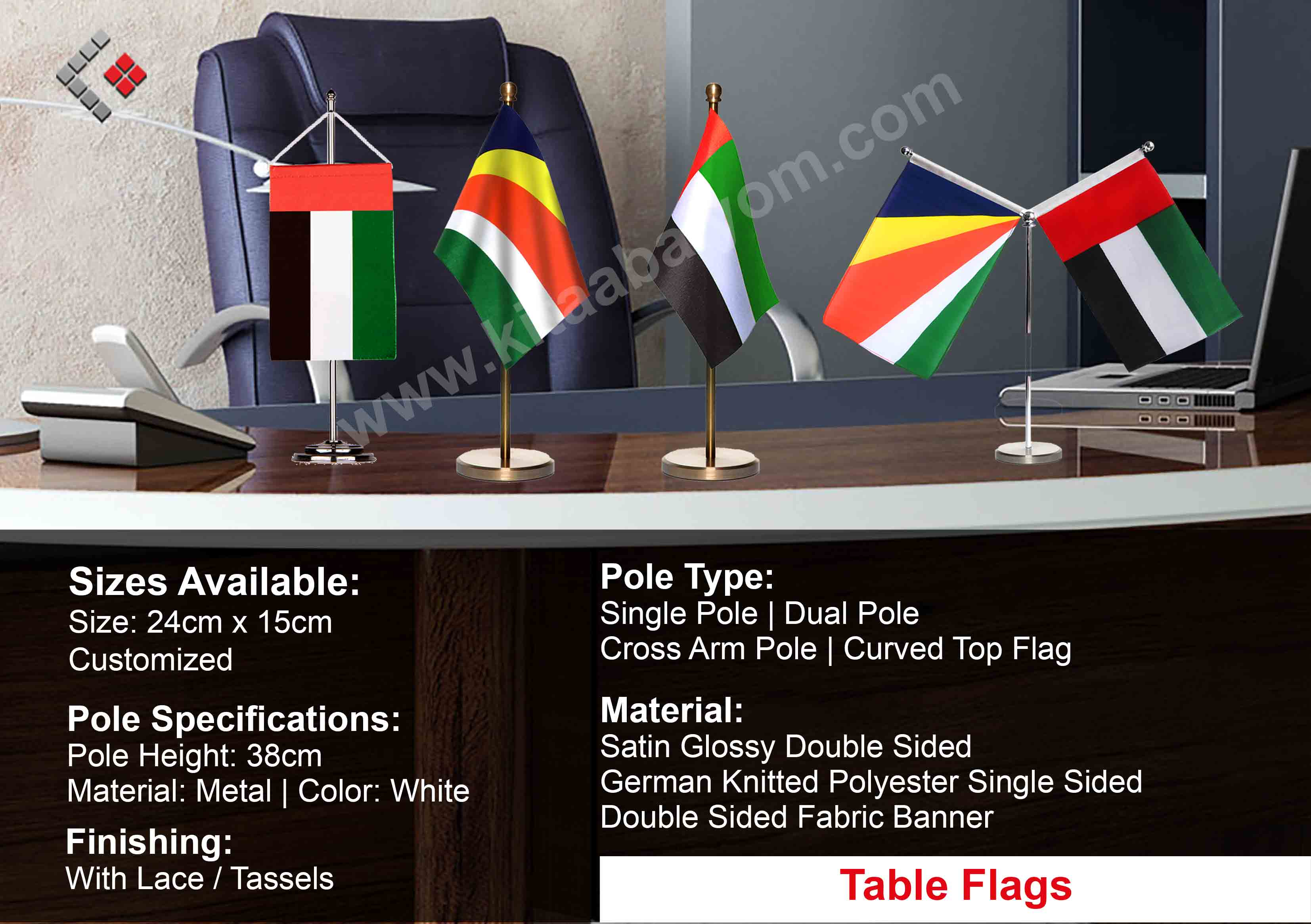 Table Flag Printing In Dubai, Custom Flags, Flags Dubai & Abu Dhabi
