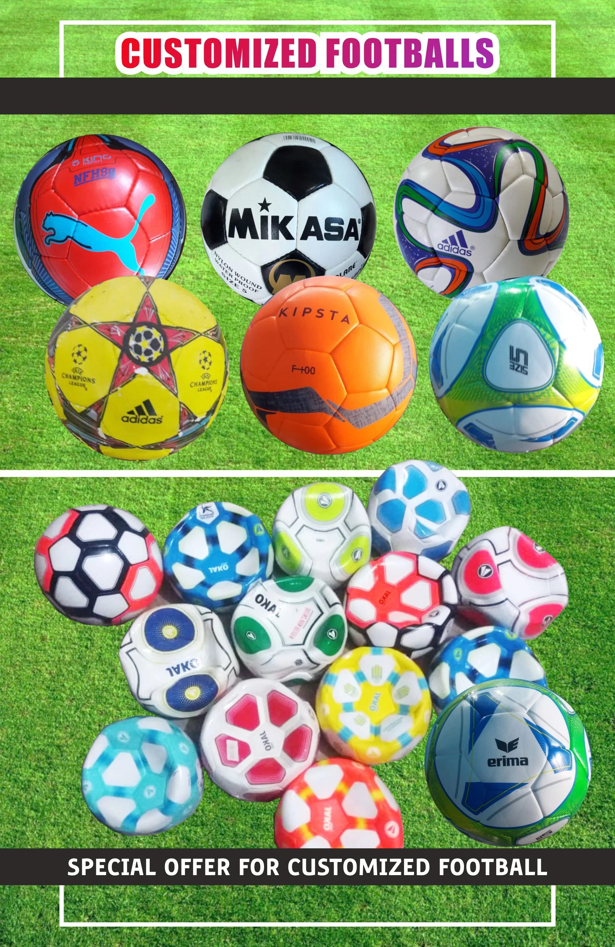 Printed Footballs, Custom footballs Printing, Print on Football in Dubai