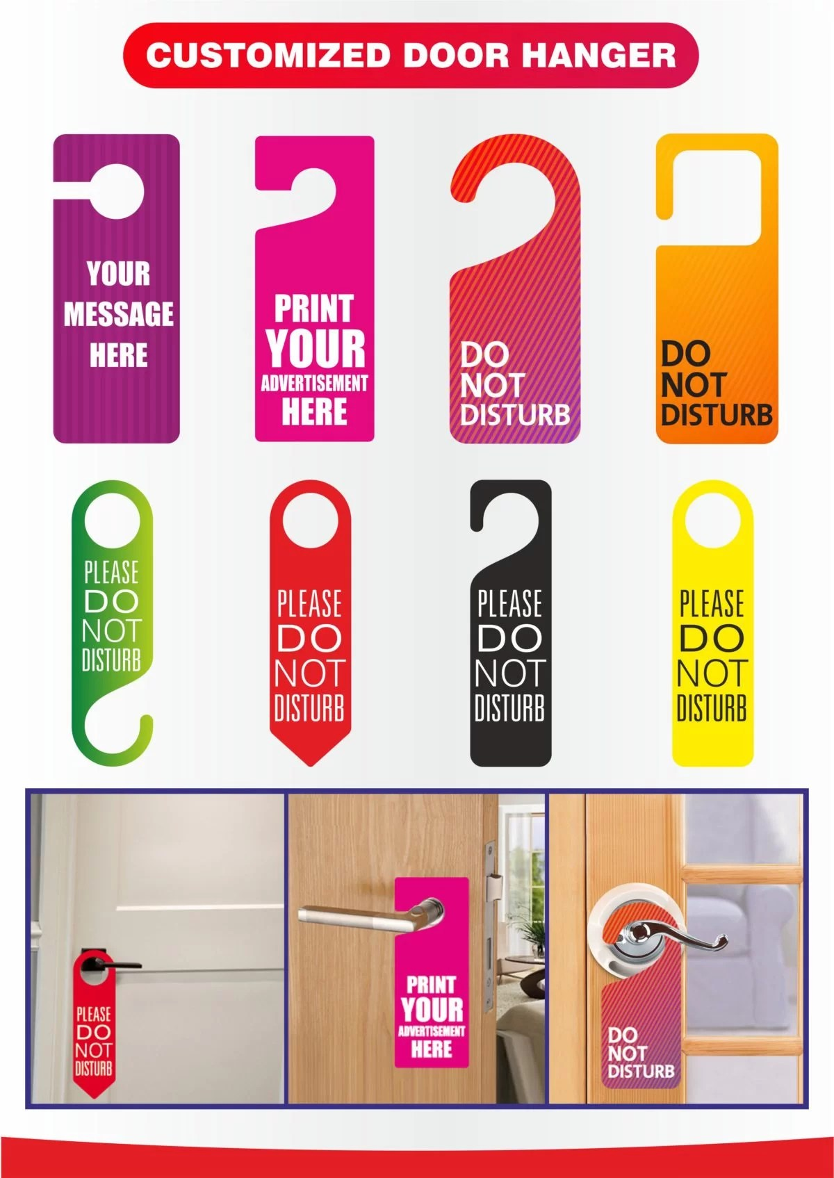 Door Hangers printing in dubai, customized door Hangers, Door Hanger