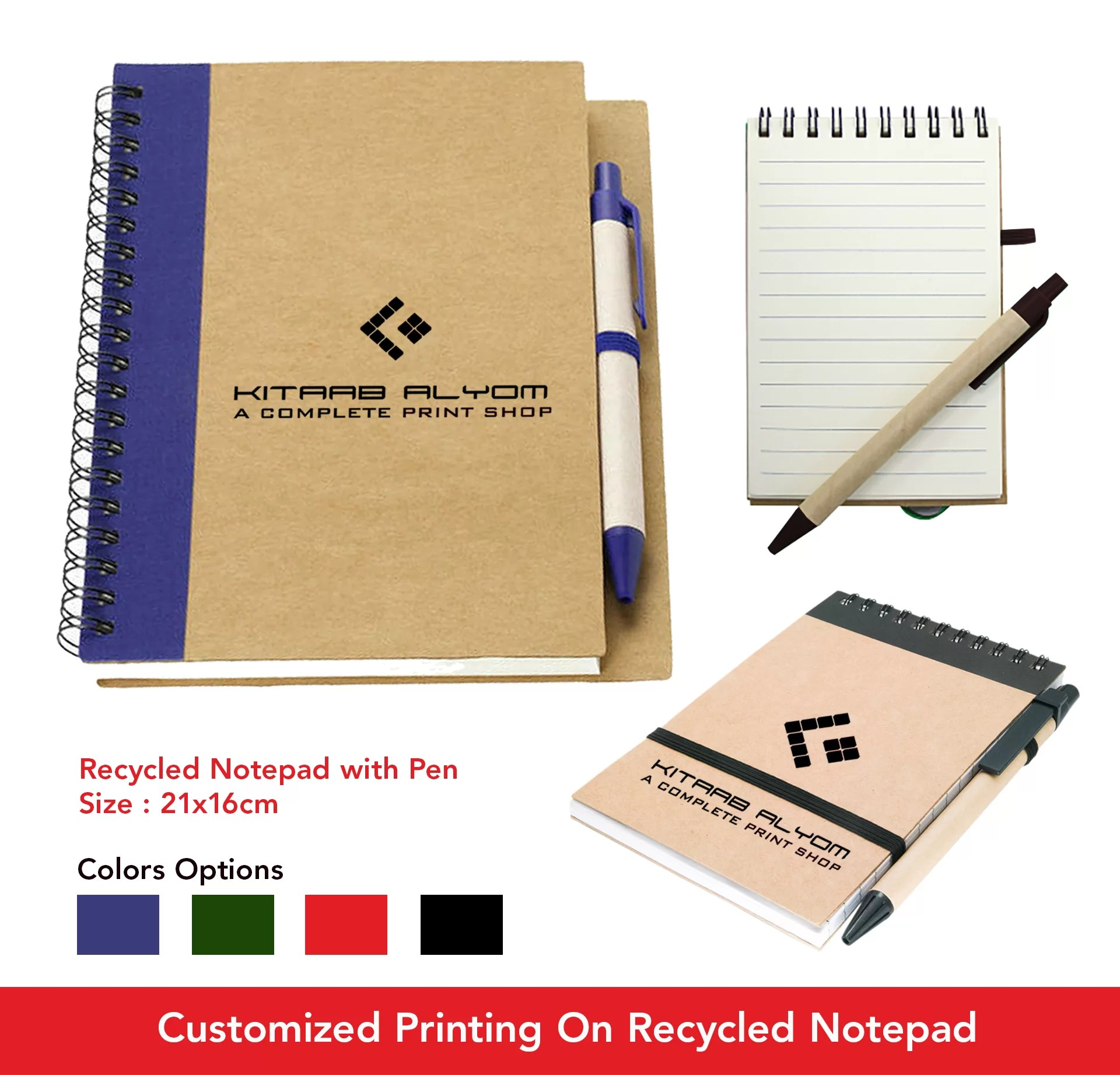 Recycled Notepad with Pen