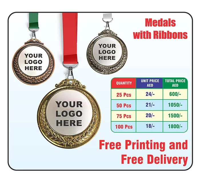 Medals - medals in Dubai - medals with ribbon in Dubai & UAE