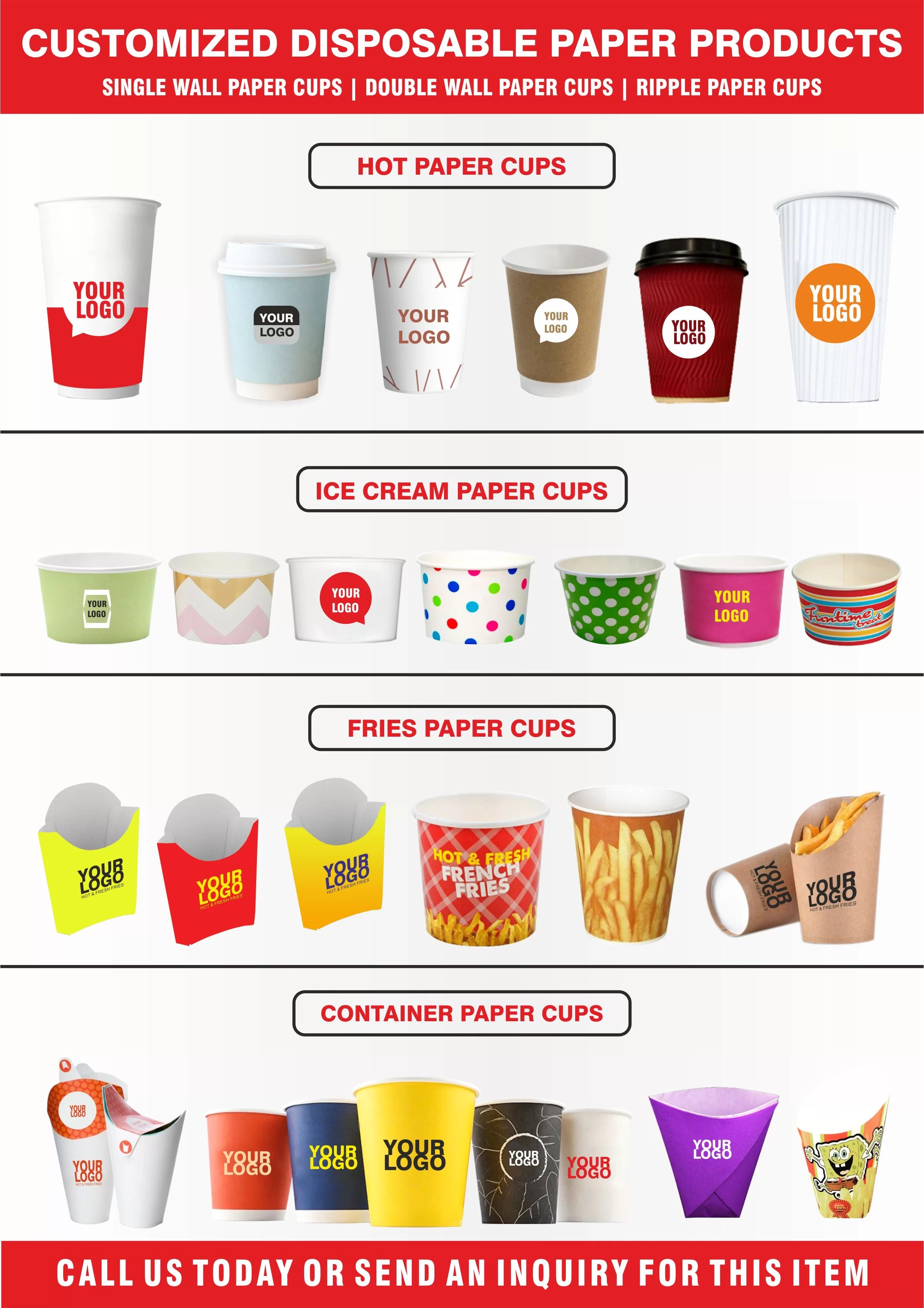 Paper Cups | Ice Cream Cups | Fries Cups | Container Cups | Disposable Products in Dubai & UAE