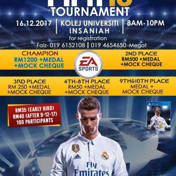 FIFA 18 Tournament Kolej Universiti Insaniah