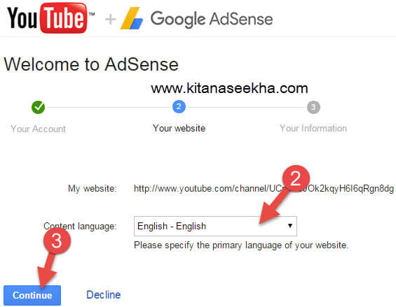 Welcome to Adsens youtube channel Select Language