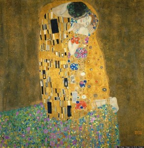 The Kiss, 1907-1908. Found in the collection of the Österreichische Galerie Belvedere, Vienna. (Photo by Fine Art Images/Heritage Images/Getty Images)