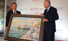 Cumhurbaşkanı Erdoğan Resim Sergisi Açtı.