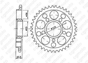 Kit trasmissione Ducati Multistrada 1000 Ds Rinforzata O
