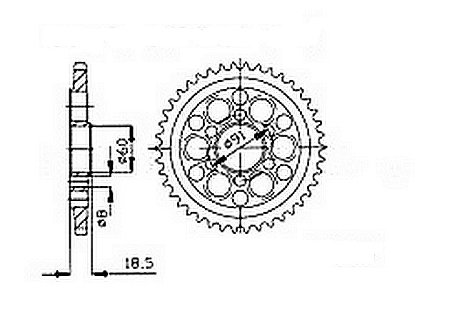 Corona Ducati 1098 R/S 07- Acciaio Divers