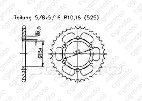 Kit trasmissione Aprilia Rst 1000 Futura Rinforzata O-ring