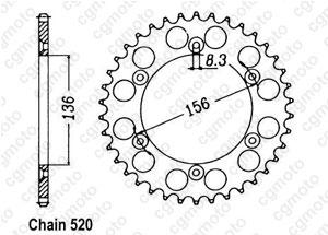 Kit trasmissione Beta 250/450/525 Rr Enduro Standard O