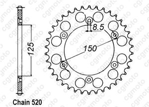 Kit trasmissione Ktm Exc/Sx 525 Rinforzata O-ring Regina