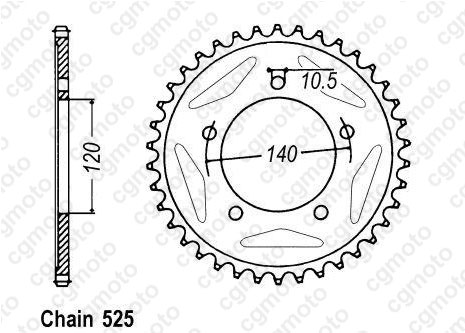 Kit trasmissione Triumph Tt 600 Rinforzata O-ring Sifam