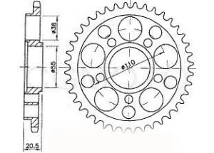 Kit chaîne moto pour DUCATI MULTISTRADA 1000 DS 2003