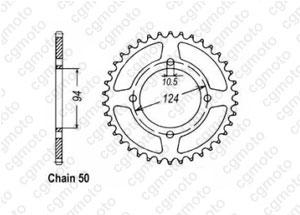 Kit chaîne moto pour HONDA CB 550 F K3 CB550K 1978