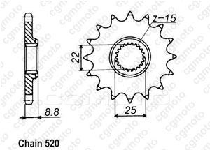 Kit chaîne moto pour KTM EXC / SX 360 1995