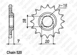 Kit chaîne moto pour SUZUKI RM 125 R S 1995