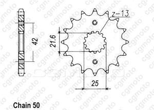 Kit chaîne moto pour SUZUKI GSF 600 BANDIT S/N JS1A8 2002