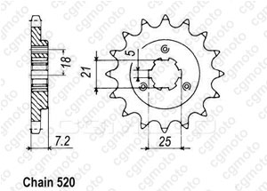 Kit chaîne moto pour SUZUKI DR 650 R SP44A 1993