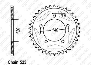 Kit chaîne moto pour SUZUKI DL 1000 V-STROM 2014