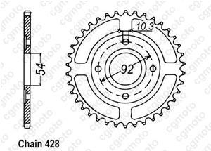 Kit chaîne moto pour YAMAHA TZR 125 2RH 2RL 1989