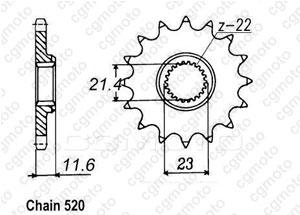 Kit chaîne moto pour YAMAHA TT-R 250 CE07W 2001