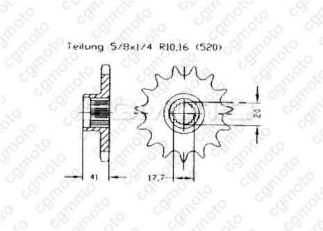 Kit chaîne quad pour AEON COBRA 50 (4X2) 2004