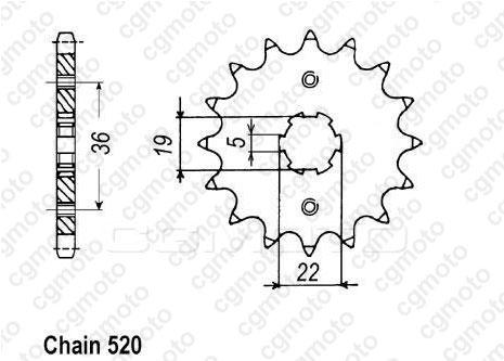 Kit chaîne quad pour ADLY 300 XS 2010