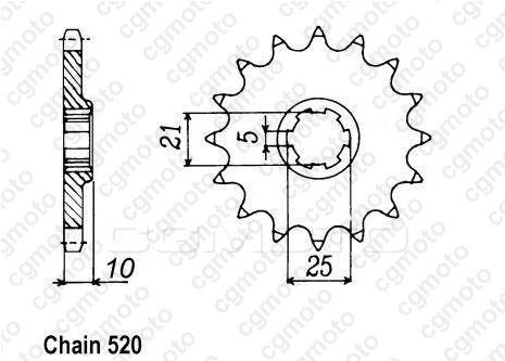 Kit chaîne moto pour CAGIVA T4 R 350 1988