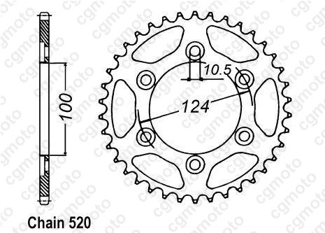 Kit chaîne moto pour DUCATI MONSTER 750 IE 2002