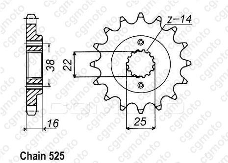 Kit chaîne moto pour DUCATI ST4 916 2003
