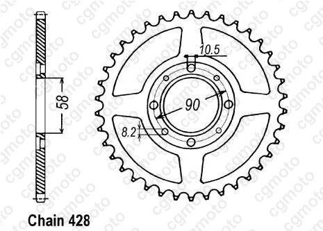 Kit chaîne moto pour DAELIM VS 125 SOLUTION 2002