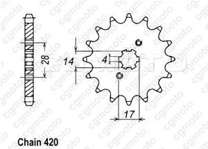 Kit chaîne moto pour DERBI GPR 50 R2 RACING/NUDE 2008