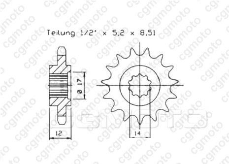Kit chaîne moto pour GAS GAS EC 50 ROOKIE /SM 2001