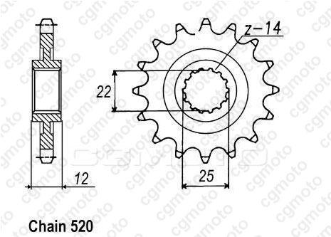 Kit chaîne moto pour GAS GAS EC 200 ENDURO 2T 2001